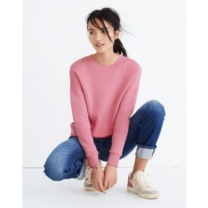 NWT Madewell Mainstay Sweatshirt Heather Petal